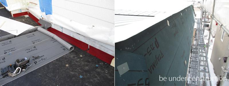 屋根はがし・防水シート貼り